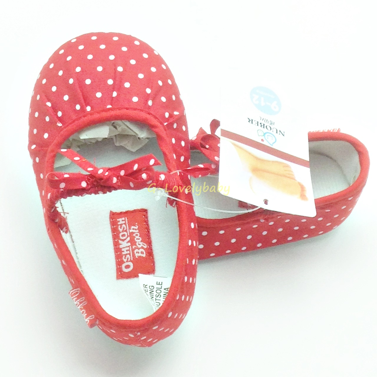 OshKosh B'gosh Pre-walker Baby Shoes รองเท้าเด็ก รองเท้าเด็กแบรนด์เนม รองเท้าเด็กหญิง รองเท้าเด็กวัยหัดเดิน ยี่ห้อ OshKosh B'gosh