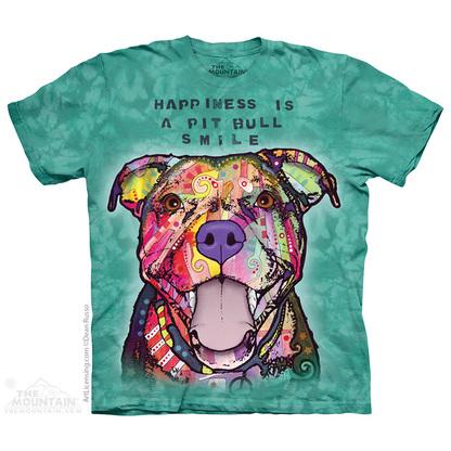 Pre. เสื้อยืดพิมพ์ลาย 3D The Mountain T-shirt : PIT BULL SMILE T-SHIRT