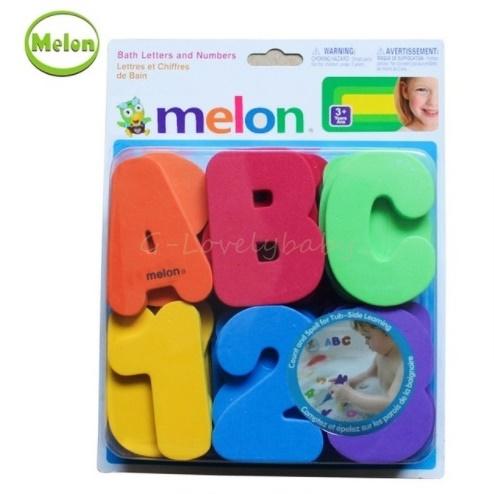 Melon 36pcs alphanumeric figures bathing stickers Baby Bath Toys Baby Early Educational Toys Water bath toys พร้อมส่ง