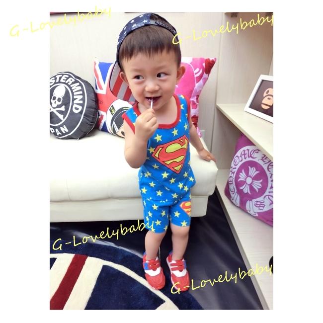 ชุดเด็ก เสื้อกล้ามเด็กพร้อมกางเกงขาสั้นเด็ก ซุปเปอร์แมน superman