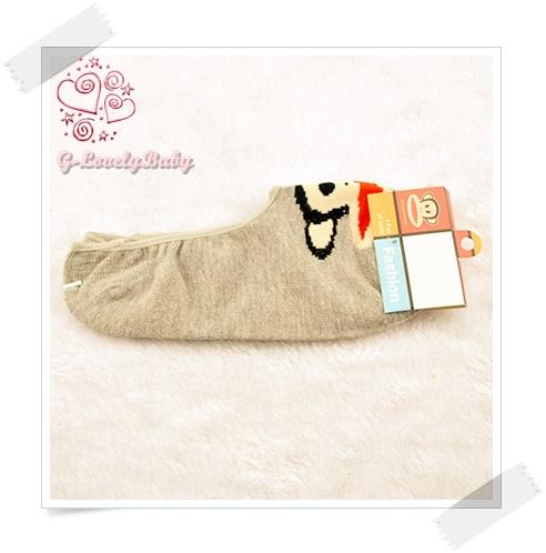 ถุงเท้าผู้หญิง แบบหุ้มส้นเท้าต่ำ ถุงเท้าหญิง พอลแฟรงค์ ลายลิง น่ารัก