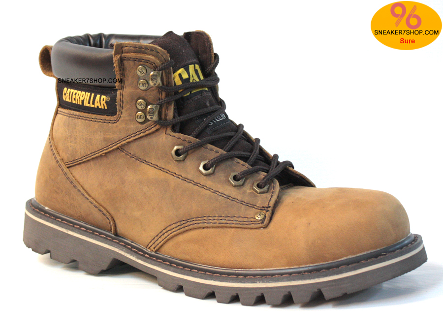 """รองเท้า CATERPILLAR CAT SECOND SHIFT 6"""" STEEL TOE เทาแดงสนิม หนังออยล์ รองเท้าเซฟตี้ หัวเหล็ก size 39-45 สินค้าใหม่"""