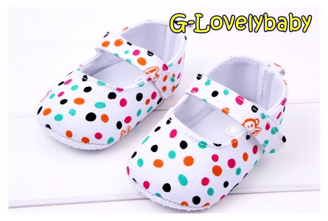 รองเท้าเด็ก Paul Frank Monkey Polka Dot Pre-walker Baby Shoes รองเท้าเด็ก รองเท้าเด็กผู้หญิงน่ารัก รองเท้าเด็กหญิงวัยหัดเดิน Size 13