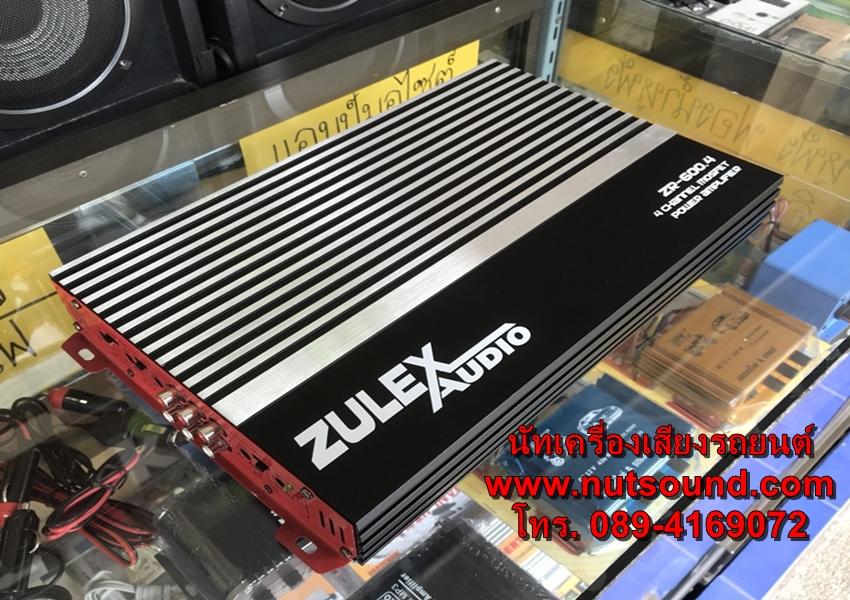 เพาเวอร์แอมป์รถยนต์ 4 CH ยี้ห้อ zulex กำลังขับ 2500 w