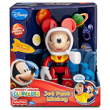 zFisher Price Mickey Mouse Club House Jet Pack Mickey.