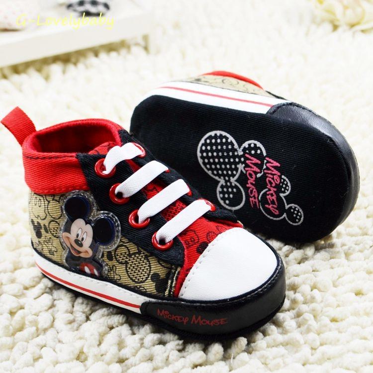 DISNEY MICKEY MOUSE Pre-walker Toddler Shoes Disney Pre-walker Baby Shoes รองเท้าเด็กหญิง รองเท้าเด็กชาย รองเท้าเด็กหญิงแบรนด์เนม รองเท้าเด็กชายแบรนด์เนม รองเท้าเด็กวัยหัดเดิน ยี่ห้อ ดิสนี่ย์ size 20