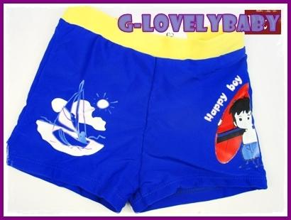 ชุดว่ายน้ำเด็กชาย ชุดว่ายน้ำเด็กกางเกงขาสั้น สีน้ำเงินเข้ม ไซต์ 152
