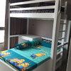 เตียง 2 ชั้น ตัวแอล มี 3 ลิ้นชักใต้เตียงตัวล่าง พร้อมโต๊ะเขียนหนังสือ