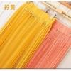 Pre-Order กระโปรงพลีท ผ้าชีฟอง สไตล์โบฮีเมียน ความยาว 50 - 96 cm.สีเหลืองและสีโอลด์โรส