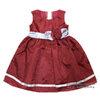 ( Size2-3-4)ชุดเดรสราตรีแขนกุดสีแดง เด็กผู้หญิง สุดน่ารัก ใส่สบาย (สำหรับเด็กอายุ 2-4 ปี)