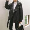 [พร้อมส่ง] เสื้อแจ๊คเก็ตหนังสีดำ