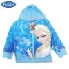 ฮ (สำหรับเด็ก4-6-8-10 ปี) Disney Frozen for Girl เสื้อแจ็คเก็ต เสื้อกันหนาว เด็กผู้หญิง สกรีนลาย เจ้าหญิงเอลซ่า สีฟ้า รูดซิป มีหมวก(ฮู้ด) ใส่คลุมกันหนาว กันแดด ใส่สบาย ดิสนีย์แท้ ลิขสิทธิ์แท้