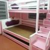 เตียง 3 ชั้น บันไดลิ้นชักเก็บของได้