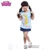 (Size 4-6-8)เสื้อยืดเด็กผู้หญิง แขนสั้น สีฟ้า สกรีนลาย Disney Rapuzel สุดน่ารัก ผ้าดีใส่สบาย ดิสนีย์แท้ ลิขสิทธิ์แท้ (สำหรับเด็กอายุ 4-8 ปี)