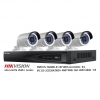 Hikvision Set NVR 4CH POE 4MP Bullet Network Camera