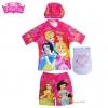 ฮ Size S - ชุดว่ายน้ำ เด็กผู้หญิง Disney Princess สีชมพู เสื้อแขนสั้น กางเกงขาสั้น สกรีนลาย เจ้าหญิงปริ้นซส มาพร้อมหมวกว่ายน้ำและถุงผ้า สุดน่ารัก ใส่สบาย ดิสนีย์แท้ ลิขสิทธิ์แท้ (สำหรับเด็กอายุ 3 -4 ปี)
