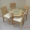 โต๊ะรับประทานอาหารทรงกลม พร้อมเก้าอี้ 4 ตัว ไม้ ASH