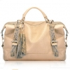(Pre-order) กระเป๋าหนังแท้ กระเป๋าสะพายผู้หญิง หนังแท้ปั้มลายหนังงู แบบคลาสสิค สไตล์ยุโรป อเมริกา สีเบจ