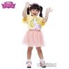 (Size 4-6-8)เสื้อยืดเด็กผู้หญิง แขนสั้น สีเหลือง สกรีนลาย Disney Rapuzel สุดน่ารัก ผ้าดีใส่สบาย ดิสนีย์แท้ ลิขสิทธิ์แท้ (สำหรับเด็กอายุ 4-8 ปี)