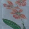 บล็อคแก้วเพ้นท์ ลาย ดอกคัทลียา (BGS-306) (3 ก้อน / ชุด)