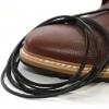 สายหนังร้อยรองเท้า ดำ เหมาะสำหรับ Redwing Timberland Dr.martens อื่นๆ หนา 2 mm. ยาว 110 CM (2 เส้น)