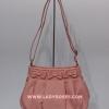 กระเป๋าสะพาย นารายา ผ้าเดนิม สียีนส์ชมพู (Size S) ประดับโบว์ด้านหน้า 3 โบว์ (กระเป๋านารายา กระเป๋าผ้า NaRaYa กระเป๋าแฟชั่น)