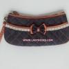 กระเป๋าถือ นารายา ผ้าเดนิม ทรงสี่เหลี่ยมผืนผ้า สียีนส์น้ำเงินเข้ม ขอบส้ม (กระเป๋านารายา กระเป๋าผ้า NaRaYa กระเป๋าแฟชั่น)