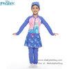 ( For Kids ) ชุดว่ายน้ำ เด็กผู้หญิง Disney Frozen บอดี้สูท เสื้อแขนยาว กระโปรงกางเกงขายาว สีน้ำเงิน ลาย เจ้าหญิงเอลซ่า ชุดว่ายน้ำเด็กผู้หญิง ดิสนีย์แท้ ลิขสิทธิ์แท้