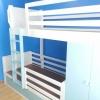 เตียง 2 ชั้น 2 ลิ้นชัก+ตู้อเนกประสงค์+ชั้นอเนกประสงค์+โต๊ะทำงาน