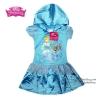 (Size S-M-L) ชุดเดรส สีฟ้า ลายเจ้าหญิงซินเดอเรลล่า มีหมวก(ฮู้ด) ดิสนีย์แท้ ลิขสิทธิ์แท้ (สำหรับเด็ก1-2-3 ปี)