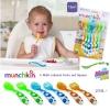 Munchkin 6 Multi-coloured Forks and Spoons ชุดช้อนส้อม Munchkin สำหรับน้อง 12 M+