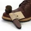 แปรงขนม้า 100% ใช้ขัดหนังกระเป๋า รองเท้า เข็มขัด หัวกลม ด้ามยาว