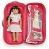 z 2 of Badger Basket Doll Travel Case with Bed and Bedding - Pink