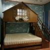 เตียง 3 ชั้น ทรงบ้าน พร้อมบันไดแบบลิ้นชักเก็บของ