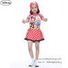 ( สำหรับเด็กอายุ 6เดือน-14 ปี) Swimsuit for Girls ชุดว่ายน้ำ เด็กผู้หญิง Disney Minnie Mouse บอดี้สูทเสื้อแขนยาว กระโปรงกางเกง มาพร้อมหมวกว่ายน้ำและถุงผ้า สุดน่ารัก ใส่สบาย ดิสนีย์แท้ ลิขสิทธิ์แท้