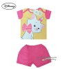 ( S-M-L ) ชุดนอนเด็ก ชุดนอนเบบี้ Disney Marie เสื้อแขนสั้นสีเหลือง กางเกงขาสั้นสีชมพูสุดน่ารัก ดิสนีย์แท้ ลิขสิทธิ์แท้ (สำหรับเด็กอายุ 0-24 เดือน)