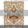 ลายเส้นเวกเตอร์ เทพพนมพร้อมฉากหลังลายไทย ภาพสี (Ai, EPS, PDF, JPG, PNG)