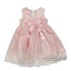 ( Size2-3-4)ชุดเดรสราตรีแขนกุดสีชมพู เด็กผู้หญิง สุดน่ารัก ใส่สบาย (สำหรับเด็กอายุ 2-4 ปี)