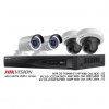 Hikvision Set NVR 4CH POE 4MP Bullet&MiniPT Network Camera