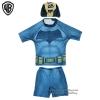 (สำหรับเด็กอายุ 6เดือน-14 ปี) ชุดว่ายน้ำเด็กผู้ชาย Bat man มาพร้อมกับเสื้อแขนสั้นสกรีนโลโก้ แบทแมน กางเกงขาสั้น มาพร้อมหมวกว่ายน้ำและถุงผ้า สุดเท่ห์ ใส่สบาย ลิขสิทธิ์แท้