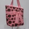 กระเป๋าสะพาย นารายา ผ้าคอตตอน สีส้ม ลายช้าง ผูกโบว์ (กระเป๋านารายา กระเป๋าผ้า NaRaYa กระเป๋าแฟชั่น)