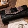 กระเป๋าคลัทช์ แฟชั่นกระเป๋าถือผู้หญิง แฟชั่นมาใหม่สไตล์ยุโรป-อเมริกา หนังวัว หนังจระเข้ และหนังงู สีดำ
