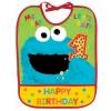 zSesame Street 1st - 1st Birthday Bib, Blue-Green-Yellow-Red ผ้ากันเปลื้อน ฉลองงานวันเกิด ของแท้ นำเข้าจากอเมริกา
