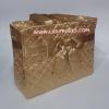 กระเป๋าสะพาย นารายา ผ้าซาตินมัน สีทอง ทรงสี่เหลี่ยม ผูกโบว์ด้านหน้า (กระเป๋านารายา กระเป๋าผ้า NaRaYa กระเป๋าแฟชั่น)