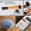 **พร้อมส่ง +ลด 50 %** Real Techniques Expert Face Brush สินค้ามีตำหนิด้ามจับเหนียว แก้ไขได้ด้วยการคลุกแป้งฝุ่น หายเหนียวแน่นอนค่ะ
