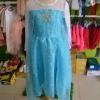 ชุดเจ้าหญิง สีฟ้า แขนยาวสีขาว ผ้าคลุมยาว