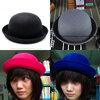 [พร้อมส่ง] หมวกชาลี : ผ้าสักหลาด ทรงกลม มีสีดำ/น้ำเงิน/ชมพู/เทา