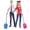z Barbie Careers Airplane Pilot Dolls Giftset, Barbie and Ken 2-Pack ของแท้100% นำเข้าจากอเมริกา