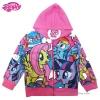 ฮ ( Size เด็ก 4-6-8-10 ปี ) Jacket My Little Pony for Girl เสื้อแจ็คเก็ต เสื้อกันหนาว เด็กผู้หญิง สกรีนลาย My Little Pony รูดซิป มีหมวก(ฮู้ด) ใส่คลุมกันหนาว กันแดด ใส่สบาย ลิขสิทธิ์ฮาสโบแท้ โพนี่แท้