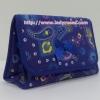 กระเป๋าเครื่องสำอางค์ นารายา ผ้าคอตตอน สีน้ำเงิน ลายหยดน้ำ มีกระจกในตัว Size L (กระเป๋านารายา กระเป๋าผ้า NaRaYa)